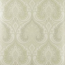 Ivory/Silver Damask Wallcovering by Baker Lifestyle Wallpaper