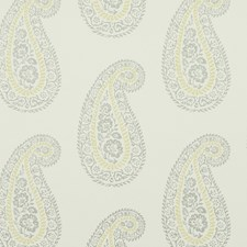 Grey/Yellow Paisley Wallcovering by Baker Lifestyle Wallpaper