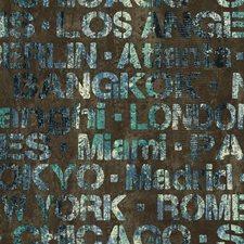 Dark Brown/Dark Blue/Turquoise Bricks Wallcovering by York