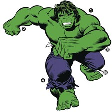 RMK3242GM Classic Hulk Comic Giant Wall Decal by York