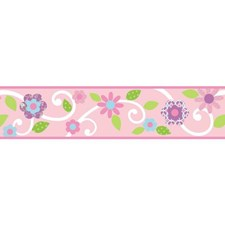RMK4400BD Scroll Floral Peel and Stick Border by York