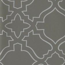 Dark Grey/Metallic Silver Geometrics Wallcovering by York