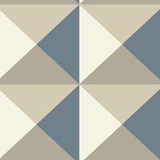 Brown/Blue/Cream Geometrics Wallcovering by York