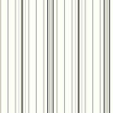 White/Medium Grey/Black Stripes Wallcovering by York