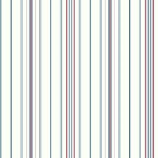 White/Red/Blue Stripes Wallcovering by York