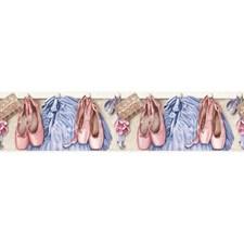 Pink/Blue/Grey Children Wallcovering by York