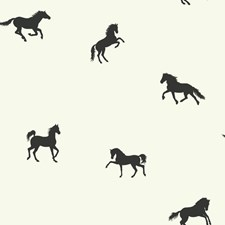 White/Black Animals Wallcovering by York