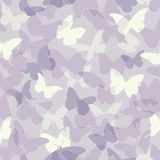 Pale Silver/Purple/White Animals Wallcovering by York