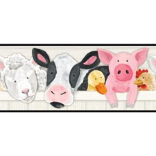 White/Grey/Black Animals Wallcovering by York
