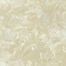 Cream/Beige/Grey Scroll Wallcovering by York