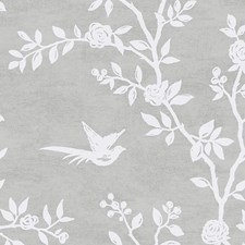Pearl Grey Wallcovering by Scalamandre Wallpaper
