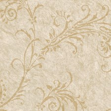 Neutral Scroll Wallcovering by Brewster