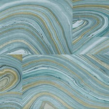 Teal/Turquoise/Tan Modern Wallcovering by York