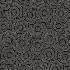 Dark Grey/Black Floral Wallcovering by York