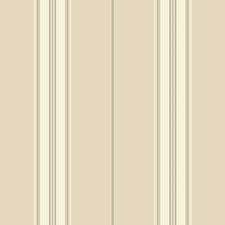 Beige/Off-white/Greige Stripes Wallcovering by York