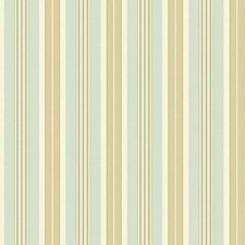 Cream/Aqua/Light Green Stripes Wallcovering by York