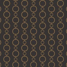 Black/Metallic Gold Geometrics Wallcovering by York