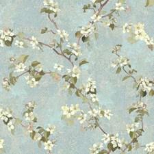 Blue/Grey/Tan Botanical Wallcovering by York