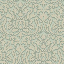 Aqua/Teal/White Bohemian Wallcovering by York