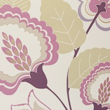 Damson Floral Large Wallcovering by Clarke & Clarke