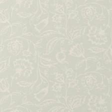Duckegg Floral Medium Wallcovering by Clarke & Clarke