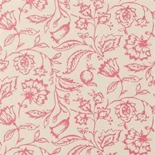 Raspberry/Cream Floral Medium Wallcovering by Clarke & Clarke