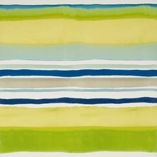 Aqua/Citrus Stripe Wallcovering by Clarke & Clarke