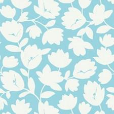 White/Light Blue Wallcovering by Kravet Wallpaper