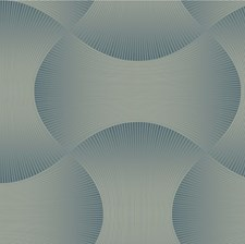 Blue/Gold Contemporary Wallcovering by Kravet Wallpaper