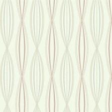 Salmon/Light Blue/Ivory Contemporary Wallcovering by Kravet Wallpaper