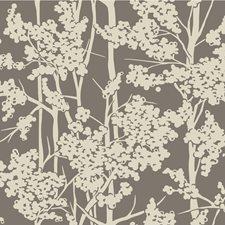 Silver/Grey/Ivory Botanical Wallcovering by Kravet Wallpaper
