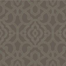 Charcoal/Light Grey/Metallic Lattice Wallcovering by Kravet Wallpaper