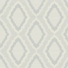White/Silver/Metallic Damask Wallcovering by Kravet Wallpaper
