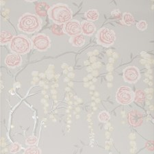 Pink/Yellow/Beige Botanical Wallcovering by Kravet Wallpaper