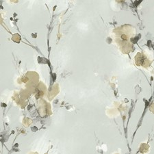 Light Grey/Beige/Taupe Botanical Wallcovering by Kravet Wallpaper
