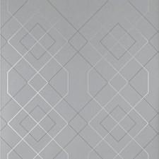 Grey/Metallic Geometric Wallcovering by Kravet Wallpaper