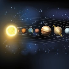 WALS0270 Planets Wall Mural by Brewster