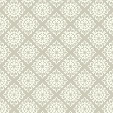 Grey/White Floral Wallcovering by York
