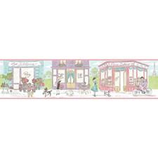 Pearl Sheen/Light Purple/Aqua Novelty Wallcovering by York