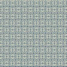 Indigo Blue/Off-white Geometrics Wallcovering by York