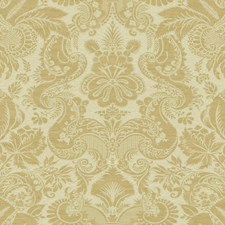Matte Golden Tan On Metallic Gold Damask Wallcovering by York