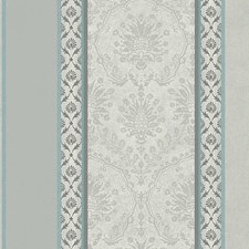 Teal/Silver Wallcovering by Scalamandre Wallpaper