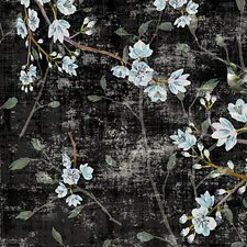 Black Blue Wallcovering by Scalamandre Wallpaper