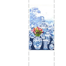 Blue - Left Panel Wallcovering by Scalamandre Wallpaper