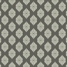 Dark Stone Grey/Cream Damask Wallcovering by York