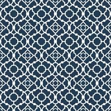 Ocean Depths Blue/Stark White Small Prints Wallcovering by York