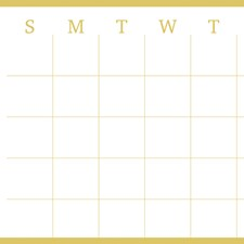 WPE2292 Vogue Gold Monthly Calendar by Brewster