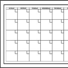 WPE94575 Medium White Monthly Calendar by Brewster