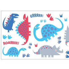 WS40257 Dino Blue Wall Stickers by Brewster