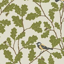 Beige/Green/Brown Wallcovering by Scalamandre Wallpaper